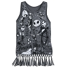 Disney Girls Shirt - Nightmare Before Christmas Fringed Tank