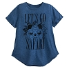 Disney Women's Shirt - Mickey Mouse - Let's Go Safari