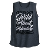 Disney Women's Shirt - Mickey Animal Print - Wild About Adventure