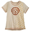 Disney Women's Shirt - Flocked Simba Art
