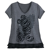 Disney Women's Shirt - Mickey Animal Print - V-Neck