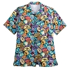 Disney Men's Shirt - Passport Collection Stamps Button-Down
