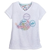 Disney Women's Shirt - Passport Collection - Mickey Stamp V-Neck