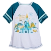 Disney Women's Shirt - Magic Kingdom Raglan