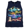 Disney Women's Shirt - Passport Collection Park Icons Zip Tank