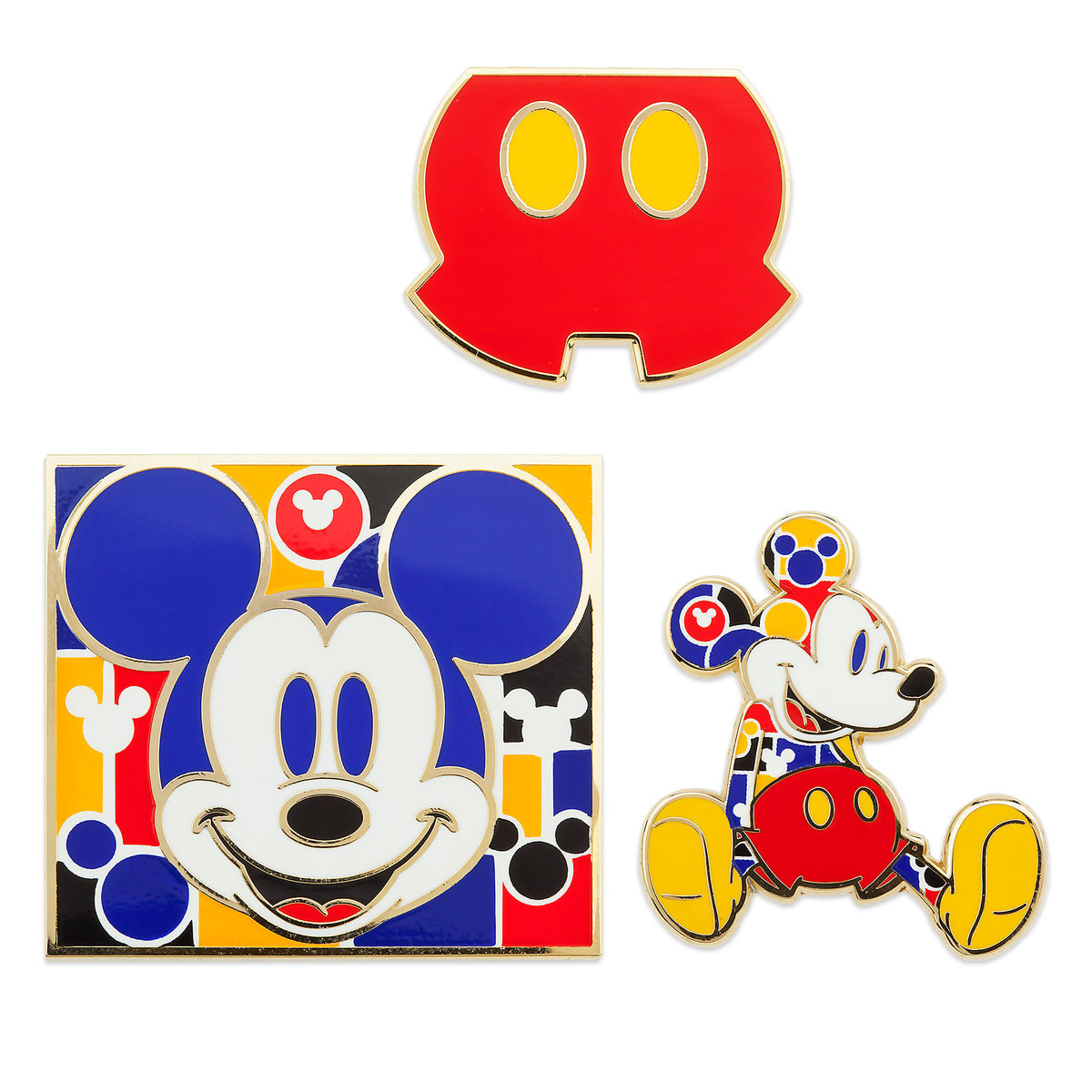 Disney 3 Pin Set Mickey Mouse Memories Bold And Bright