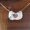 Disney Rebecca Hook Necklace - Mickey Gloves form RED Heart