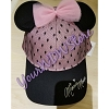 Disney Baseball Cap - Minnie Mouse Black and Pink Lace Chiffon