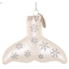 SeaWorld Christmas Ornament - Blown Glass - Shamu Tail - White
