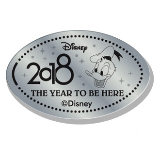 Disney Pressed Quarter - 2018 Donald Face