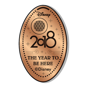 Disney Pressed Penny - 2018 Epcot Spaceship Earth
