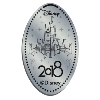 Disney Pressed Quarter - 2018 Cinderella Castle