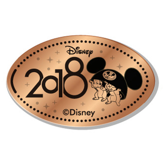 Disney Pressed Penny - 2018 Chip & Dale