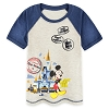 Disney Boys Shirt - Magic Kingdom Raglan - Mickey Mouse