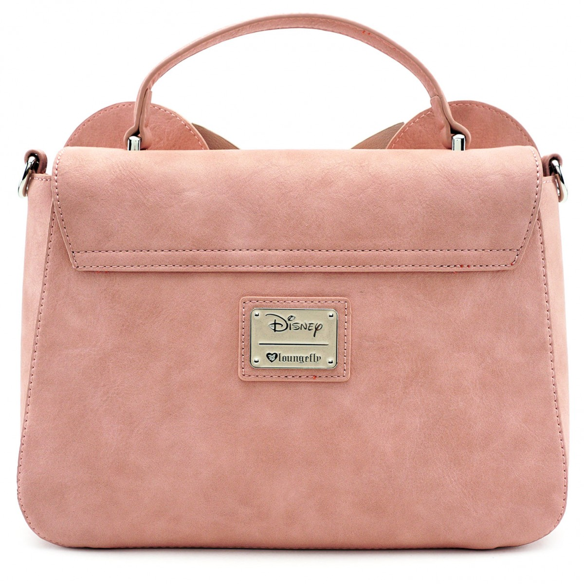 8ee3c12991d Disney Crossbody Bag - Loungefly x Minnie Ears and Bow - Pink. Hover to zoom