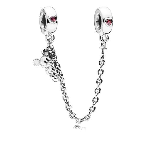 Disney PANDORA Charm - Mickey Mouse Climber Safety Chain