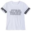 Disney Women's Shirt - Star Wars Logo - Glitter Football Tee