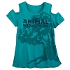 Disney Women's Shirt - Animal Kingdom 20th Anniversary Cold-Shoulder