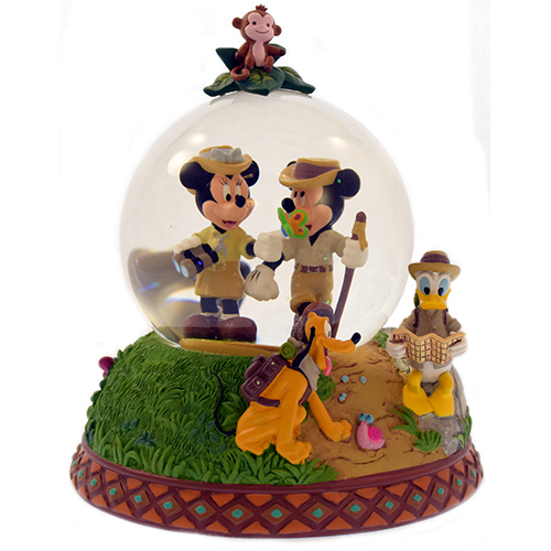 Mickey and Friends Adventure Isle Snow Globe