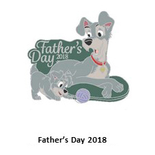 Disney Father's Day Pin - 2018 Fathers Day - Tramp and Scamp