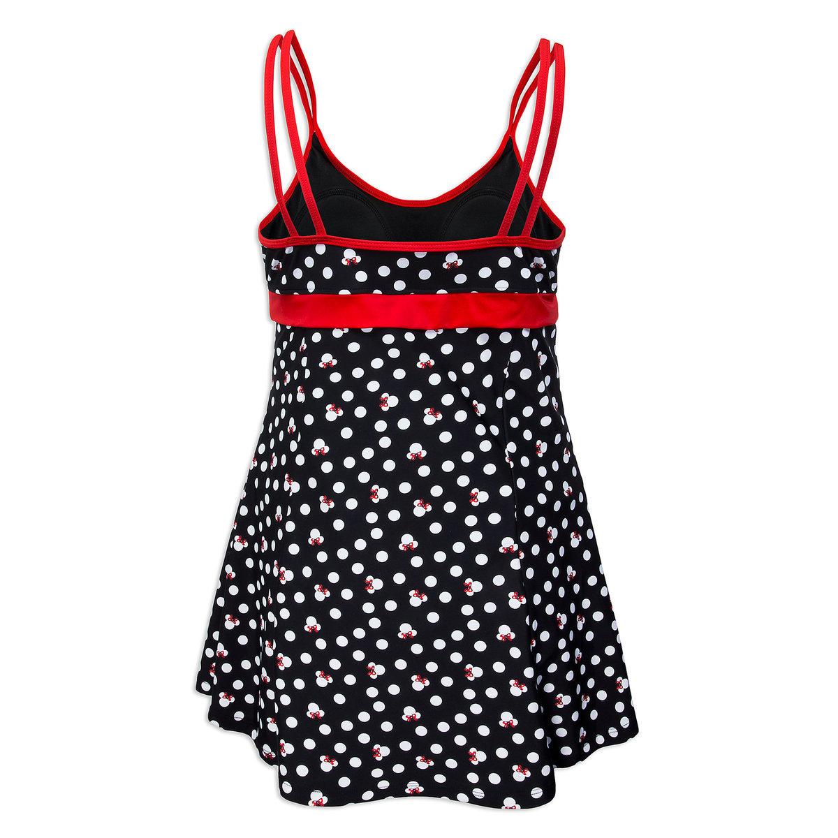 fb991c490 Disney Women's Swimsuit Dress - Minnie Mouse Icons Polka-dot Print