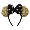 Disney Ears Headband -  Minnie Mouse - Gold and Black