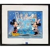 Disney Framed Sericel - Mickey And Minnie At Destination Disney
