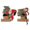 Disney 2 Pin Set - The Incredibles - You Can Call Me Incredible