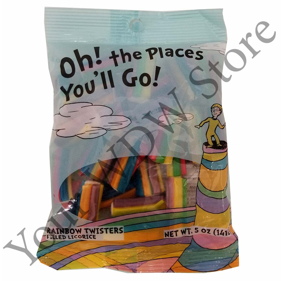 Universal Candy - Oh! The Places You'll Go! - Rainbow Filled Licorice