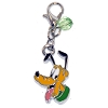Disney Dangle Charm - Charmed In The Park - Pluto Icon