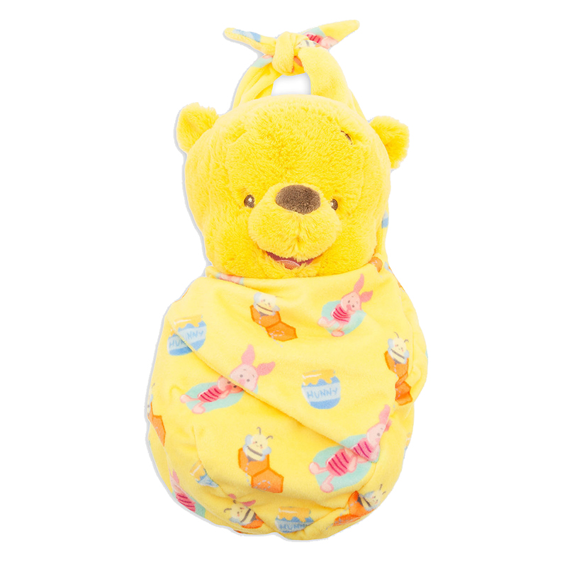 Disney Babies Plush - Baby Winnie The Pooh with Blanket Pouch