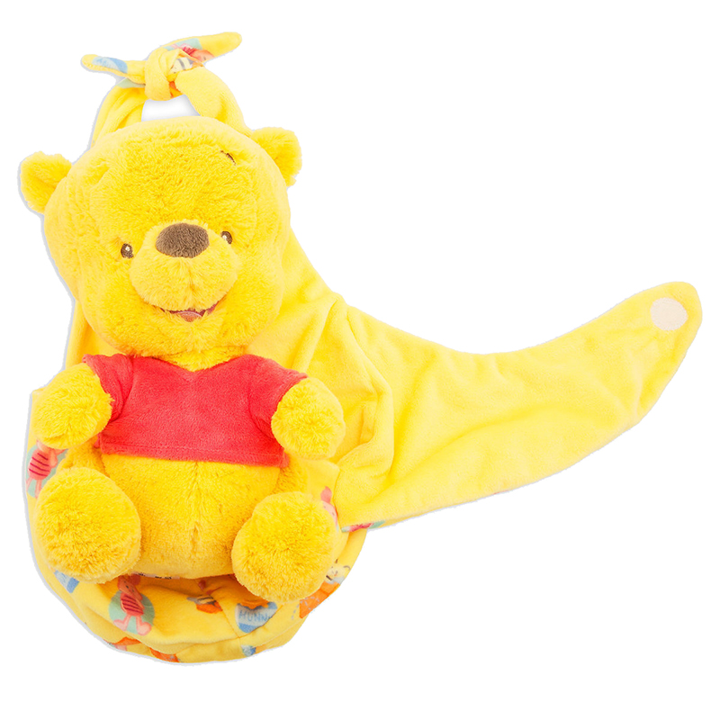 Disney Babies Plush Baby Winnie The Pooh With Blanket Pouch