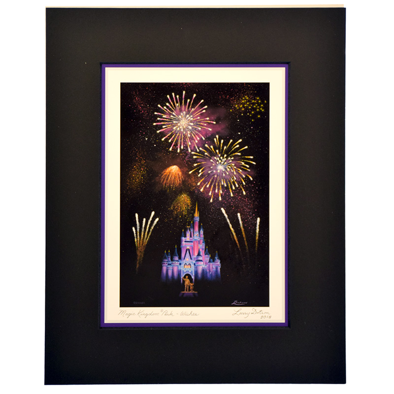 Disney Artist Print - Larry Dotson - Magic Kingdom Park - Wishes