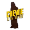 Disney Car Magnet - Star Wars Chewbacca - Chewie is My Copilot