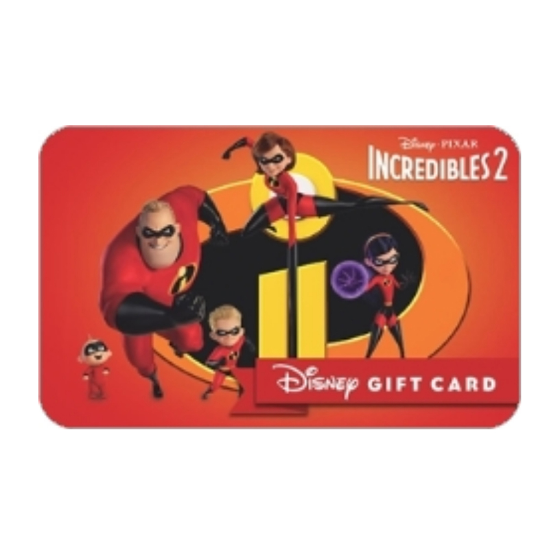 Disney Collectible Gift Card - Incredibles 2
