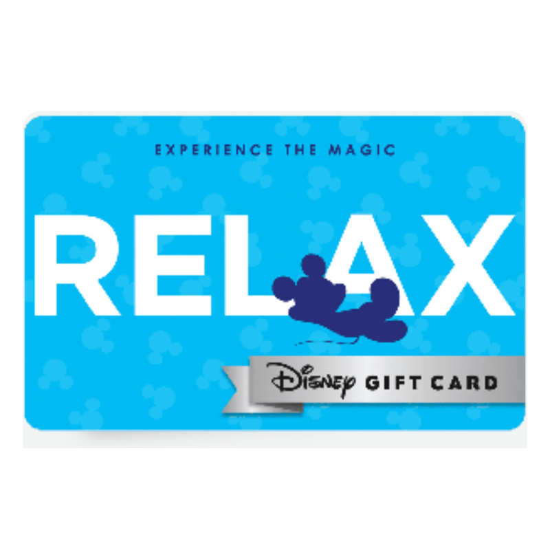 Disney Collectible Gift Card - Experience - Relax - Mickey Mouse