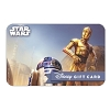 Disney Collectible Gift Card - Star Wars - R2-D2 and C-3PO