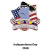 Disney Independence Day Pin - 2018 Sam the Eagle - Fourth Of July
