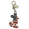Disney Dangle Charm - Charmed In The Park  -  Americana Mickey Mouse