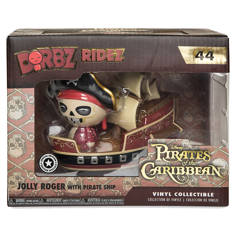 Disney Vinyl Figure - Dorbz Ridez - Jolly Rodger with Pirate Ship
