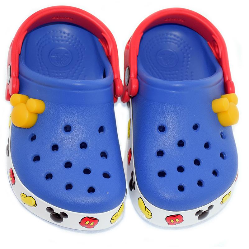 Disney Kids Crocs Shoes - Blue Light Up