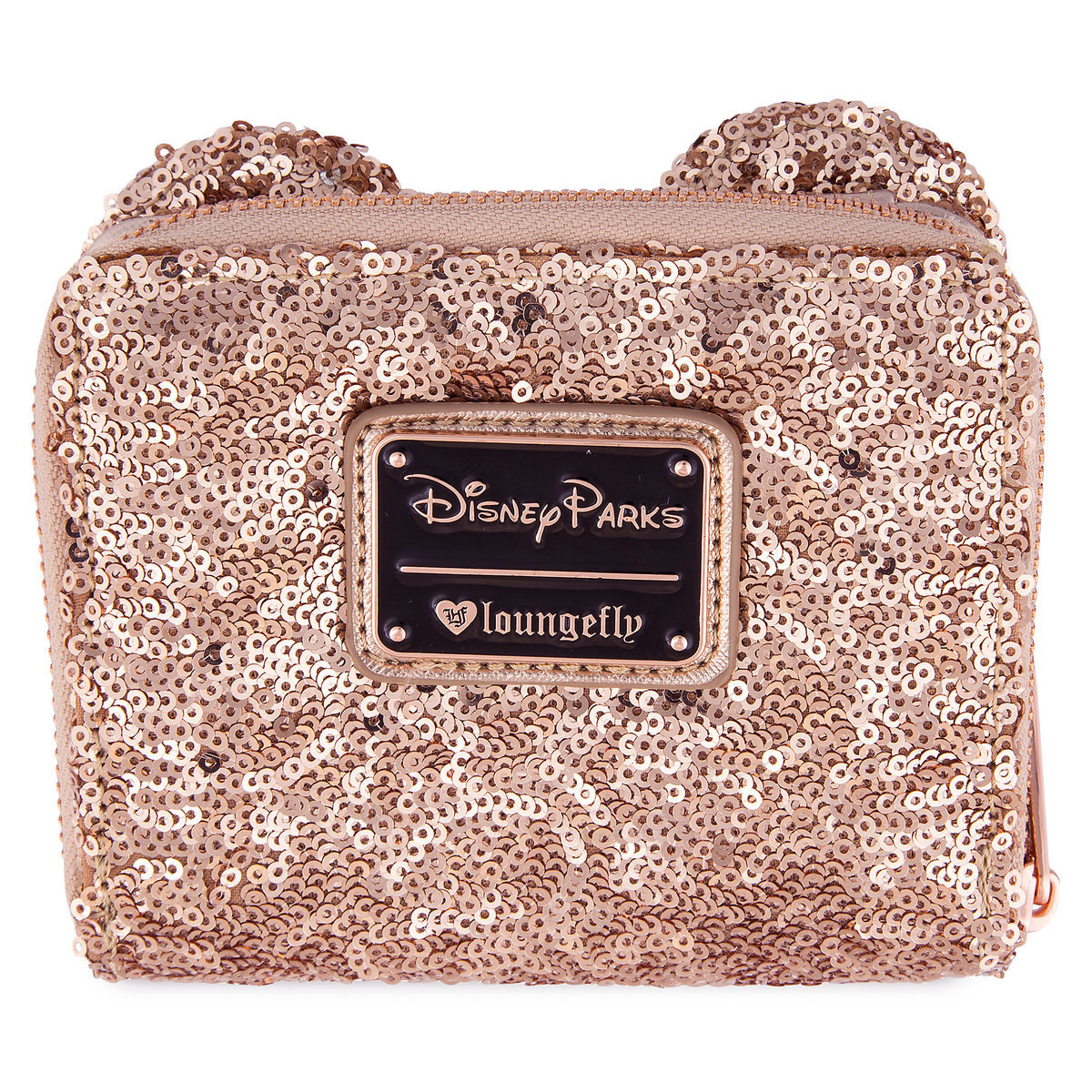 Disney Parks Wallet - Rose Gold Zip Around By Loungefly