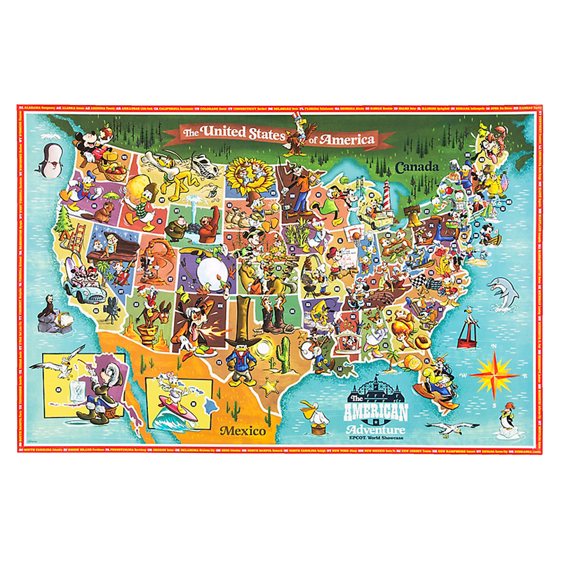 graphic about Printable Maps of Disney World identified as Disney Poster - American Journey Map