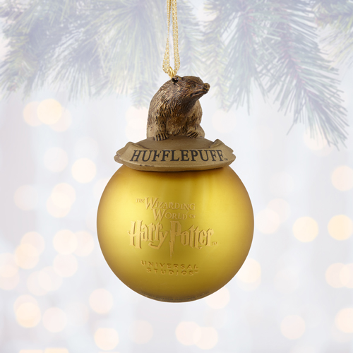 HARRY POTTER House Ornament ~Universal Studios Exclusive HUFFLEPUFF New