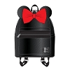 Disney Faux Leather Mini Backpack by Loungefly - Minnie Black
