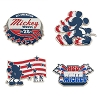 Disney 4 Pin Set - Americana Mickey Mouse