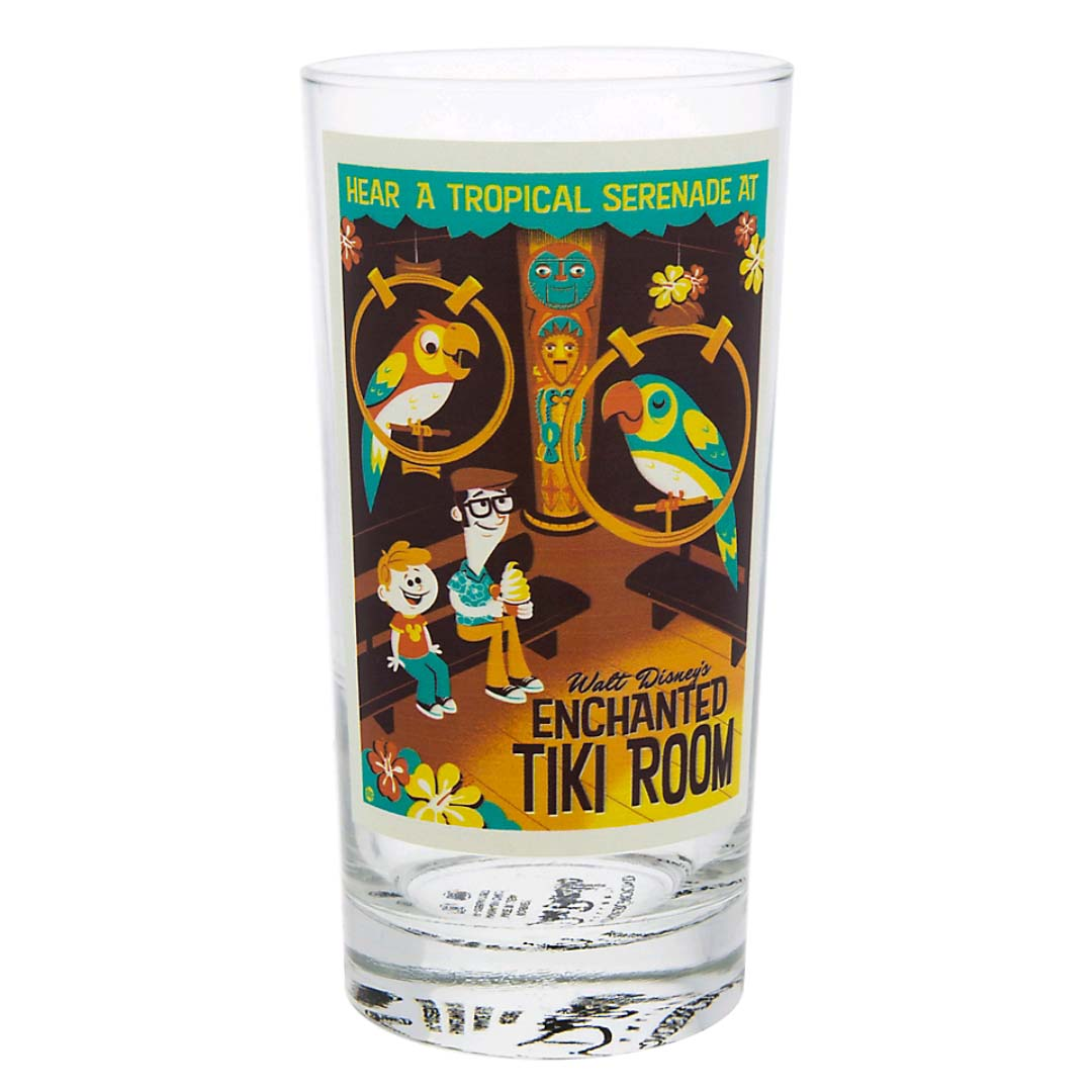 Disney Tall Glass The Enchanted Tiki Room By Dave Perillo