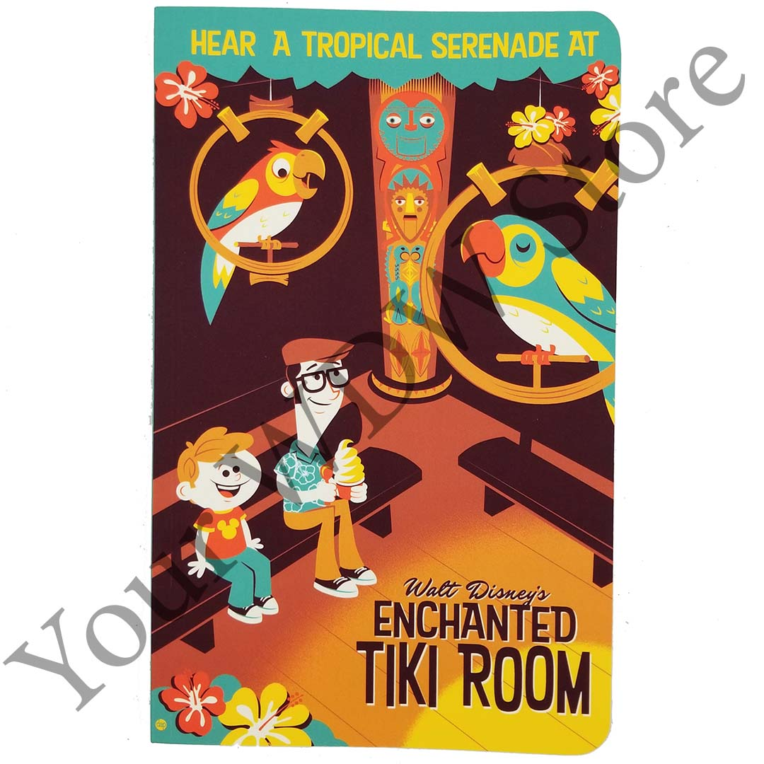 Disney Notebook - The Enchanted Tiki Room Retro Poster by Dave Perillo