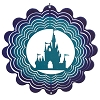 Disney EyCatcher Spinner - Castle Silhouette  - 8''