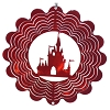 Disney EyCatcher Spinner - Castle Silhouette  - 4''  - Red